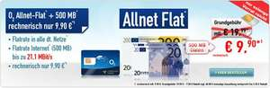 MD: o2 Allnet Flat + 500MB - eff. 9,99€ monatlich durch 60€ Auszahlung