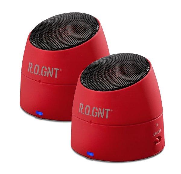 Tragbarer MP3 Lautsprecher inkl. Akku R.O.GNT 0002-21 für nur 20,46 EUR inkl. Versand
