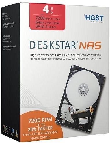 NAS HDD 4TB (4000GB) HGST 7200rpm, SATA 6Gb/s, retail (keine billige OEM!) für 136,90€ inkl. VSK @ZackZack