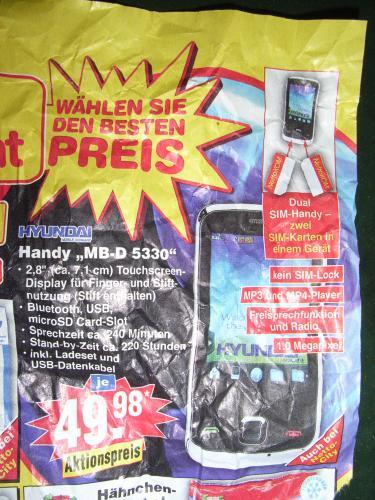 Dual Sim Handy 50 Euro @netto-ohne-Hund [offline]