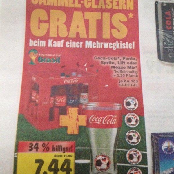 Kaufland bundesweit? --> Kiste Cola, Fanta, Lift, Mezzo Mix oder Sprite + Sammelglas