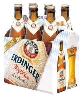 Sixpack ERDINGER Weißbier gratis frei Haus! Für die ersten  2.000 Fußballfans