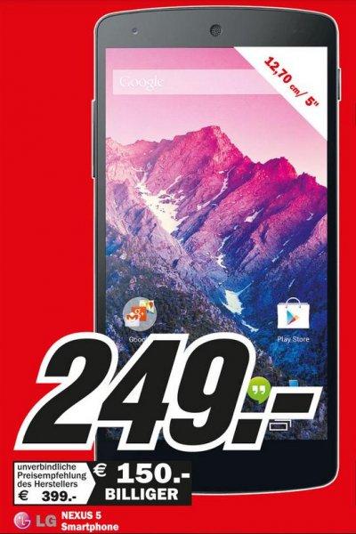 (Media Markt Lokal) Nexus 5 Für 249,00€ in 45475 Mülheim/Ruhr-Dümpten
