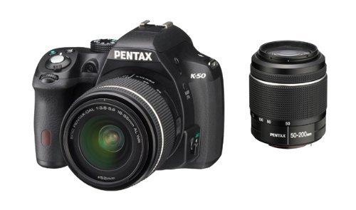 [amazon.fr] Pentax K-50 digitale SLR mit 18-55 mm und 50-200 mm WR DAL Objektiv, schwarz inkl. Vsk für 505,75 €