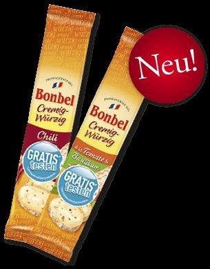 [2x Gratis Käse][Update] Bonbel Cremig-Würzig Chili und Bonbel Cremig-Würzig à la Tomate & Basilikum GRATIS testen
