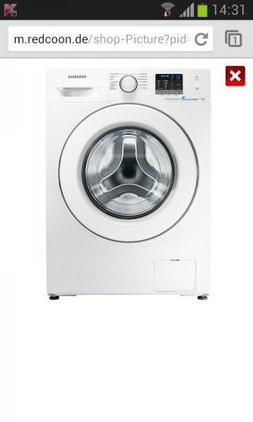 Samsung WF70F5E0R4W · Waschmaschine, Frontlader, 7kg, 1400 U/M | redcoon 349€