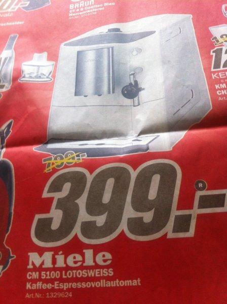 Miele CM 5100 Kaffe-Espressovollautomat 399€ Lokal