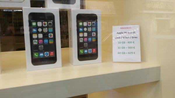 [Lokal Frankfurt] iPhone 5s 16,32 und 64gb zu sehr guten Preisen