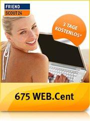 WEB.cent über web.de: Premium-Mitgliedschaft bei FriendScout24 für 3 Tage (endet automatisch) bringt 675 WEB.cent -> Gegenwert etwa 6,75€.
