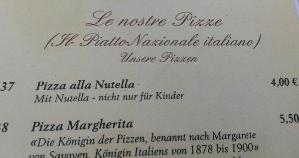 [Lokal HG] Nutella Pizza für 4 €