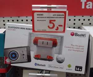 lokal @MM Egelsbach: BeeWi iOS Bluetooth Mini Robot Kick für 5 € BBZ150A6 BT