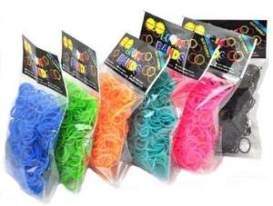 "3600 Loom Rainbow  Bands with 150 ""S"" Clips & Hook  6 Different Colors LOOM BANDS 8,76 € & kostenlose Lieferung"