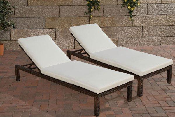 140 € sparen! Sonnenliege in trendiger Rattanoptik drastisch reduziert, 41 % gespart