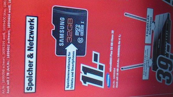 Samsung Micro SD 32 GB class 10 Media Markt