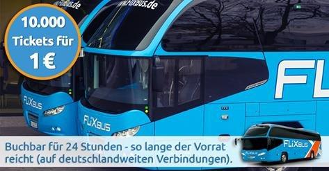 FlixBus: 10.000 x 1 € Tickets für 24 Stunden buchbar