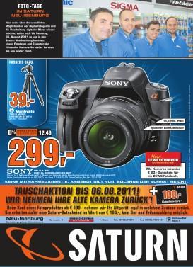 Sony DSLR-A290 Kit mit Sony 18-55mm offline @ Saturn Neu-Isenburg für € 299,-