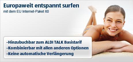 EU Internet-Paket & Sprach-Paket 60 bei Aldi-Talk ab 1.8.11 buchbar für je 4,99€