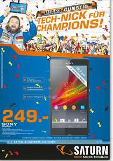 Lokal Saturn München & Freising -  249€ Smartphone  Sony XPERIA Z Black