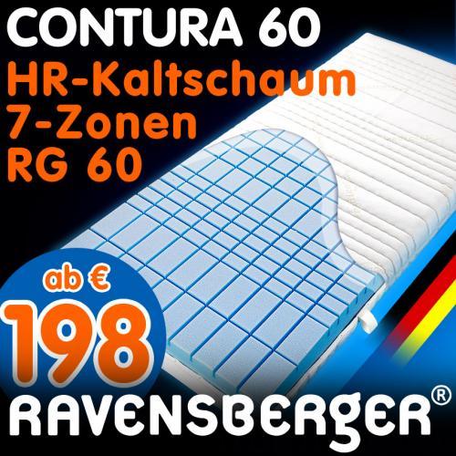 Contura (neuer Name Struktura) 60 7-Zonen Kaltschaummatratze RG60 und 19cm Höhe Versand inkl. z.B. 90x200cm