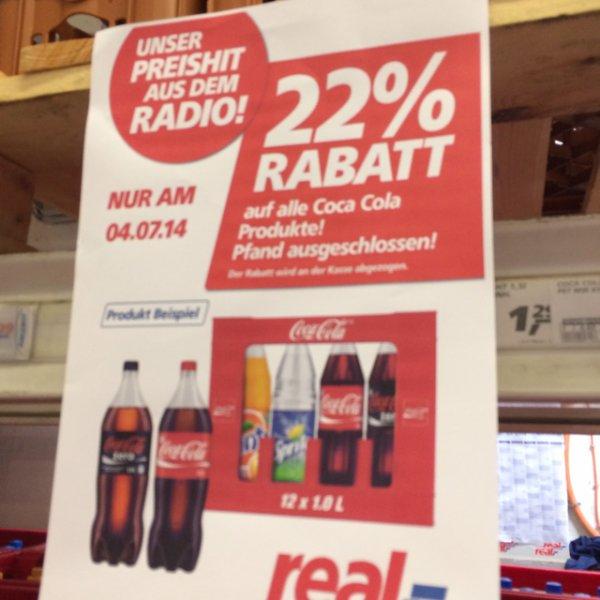 [Lokal München ?] 22% Rabatt auf alle Coca Cola Produkte (Literpreis 0,47€)