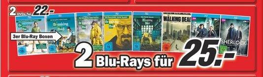[lokal Gütersloh] 2 Breaking Bad Staffeln für 25 € auf BluRay beim Mediamarkt