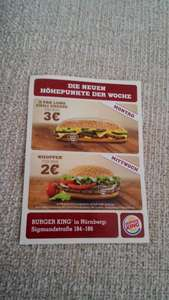 (Nürnberg) Whopper 2€, X-Tra Long Chili Cheese 3€ @BK