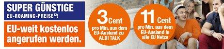 AldiTalk keine Roaming Gebühren in EU und schweiz