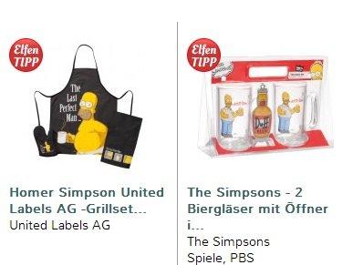 The Simpsons Grillset und Bier-Set für 13,98€ inkl. Versand statt 29,98€