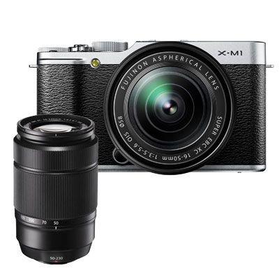 Fuji X-M1  16-50 + 50-230 - silber oder schwarz für 507 EUR