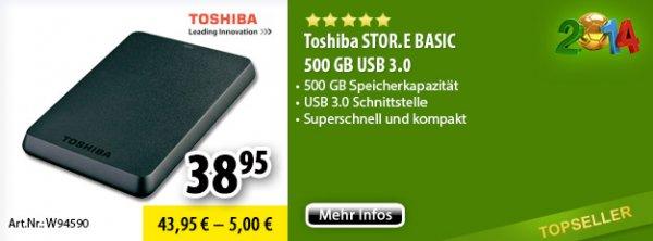 Toshiba Stor.e Basic 500 GB USB 3.0 @ Voelkner