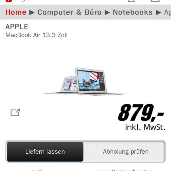 Apple MacBook Air Media Markt 879