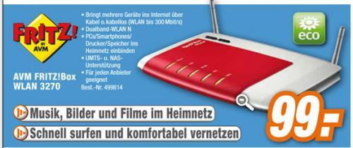 AVM Fritz!Box WLAN 3270, 300Mbps bei Expert / Online und Offline