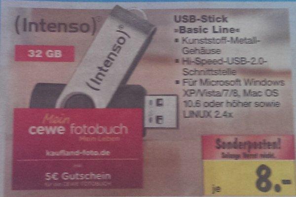 [Kaufland, bundesweit ?] 32GB USB 2.0 Stick Intenso Basic Line