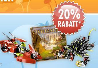 20% Rabatt auf Spielwaren, u.a. Playmobil und LEGO bei BOL.DE