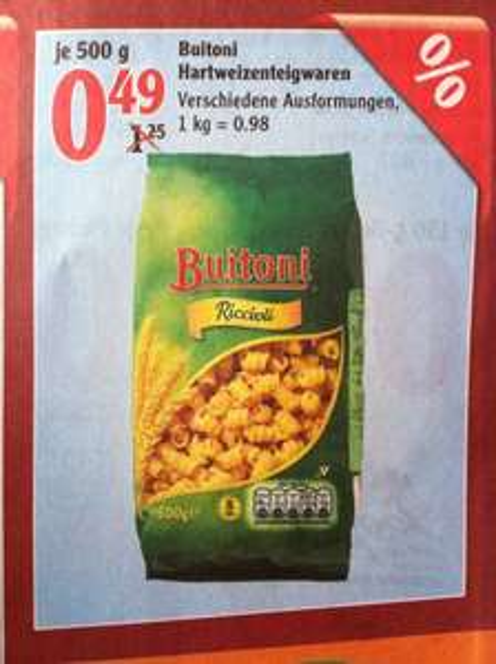 (Lokal?) Buitoni Hartweizenteigware 500 g verschiedene Sorten für je 0,49 € im Globus Hattersheim (bei Frankfurt a. M.) ab Montag den 07.07.-12.07.14