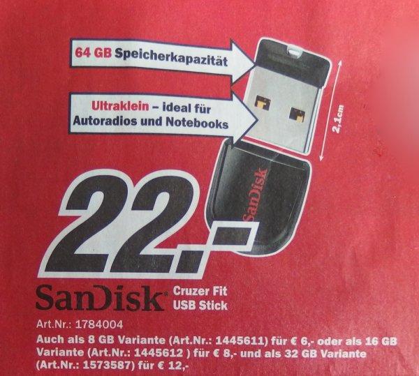 SanDisk Cruzer Fit 64GB bei MediaMarkt