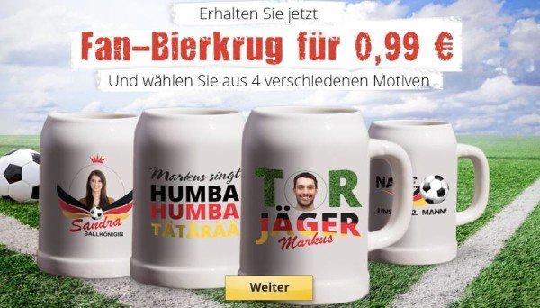 Deutschland-Bierkrug mit eigenem Namen für nur 5,94 statt 16,94 bei MyPrinting.de