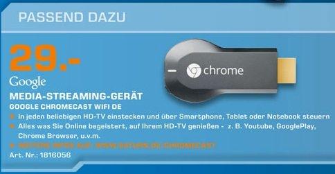 Google Chromecast für 29€ Lokal [Saturn Kleve]