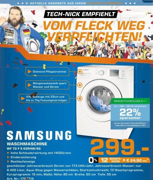 [LOKAL Flensburg] Samsung 70F5E0R4W Waschmaschine, A+++, 7kg, 1400U/min, weiß @ SATURN Flensburg