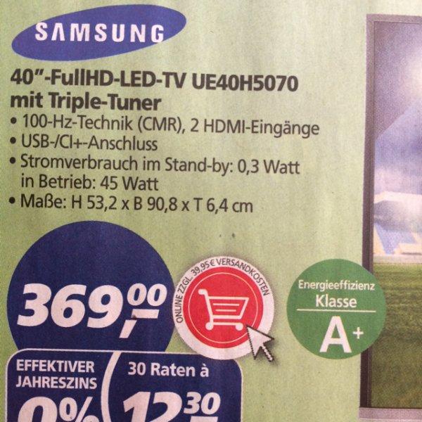 Real (on und offline) Samsung UE40H5070