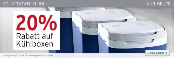 20% auf Kühlboxen- nur heute. Z.B.: Kompressor Kühlbox Ezetil EZC25