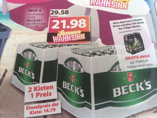 Famila Nordwest: 2 Kisten + 6er Träger Beck's