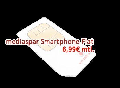Vodafone Smart M (300 min, SMS Flat, 300 MB) für 6,99€ / Monat (insgesamt 178,71€)