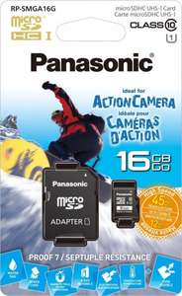 Panasonic GOLD MicroSDHC UHS-1 inkl. SD-Adapter 16GB (Speicherkarte)  für 8,99 €