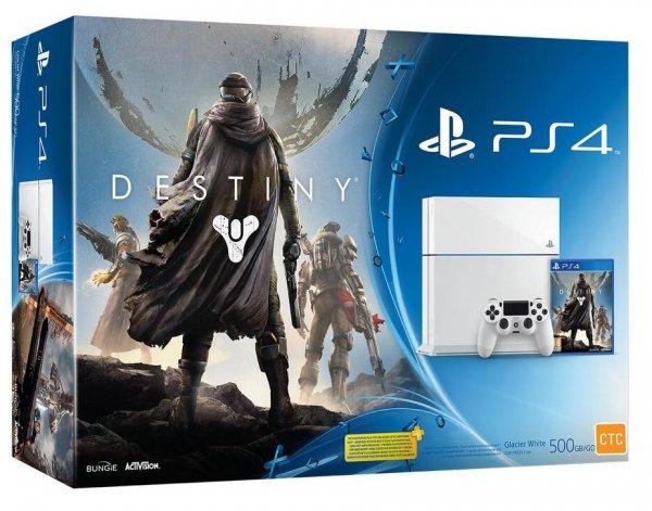 Konsole Playstation 4 Glacier White + Destiny