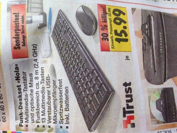 (Kaufland, lokal? Nrw?) funk Tastatur maus set der Marke Trust für 15,99€