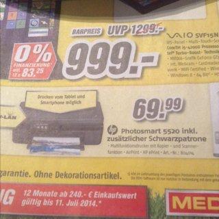 Bundesweit MediMax (Offline) HP Photosmart 5520 + Schwarz Patrone