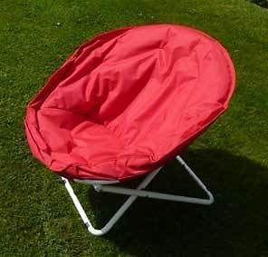 5 Stück Moon Chairs (rot) Strandstuhl, Campingstuhl, Sehr bequem HAMMER auf jedem Festival