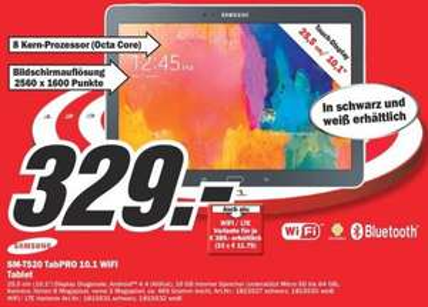 Samsung Galaxy Tab PRO 10.1.WiFi oder LTE [Lokal Hannover Media Markt]