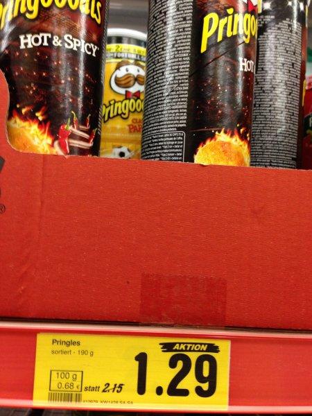 Pringles 1,29 Euro statt 2,15 Euro im Netto BUNDESWEIT